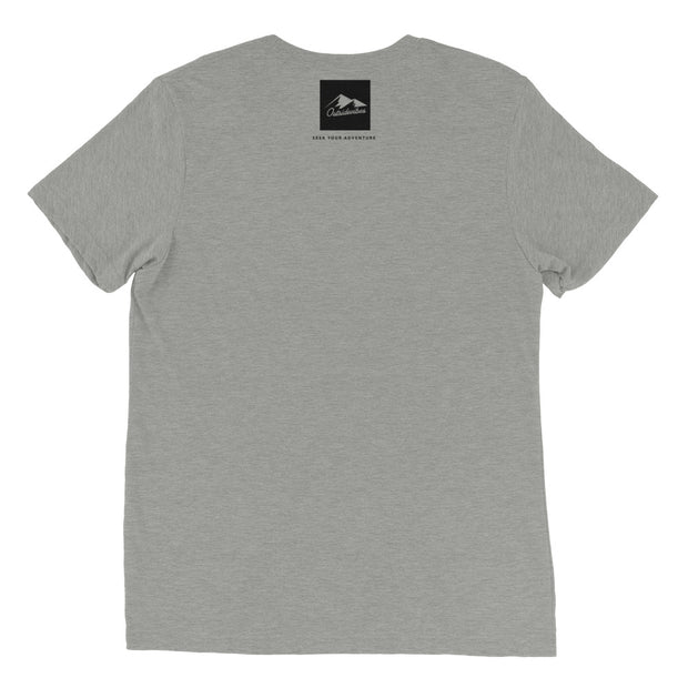 Ousidevibes Gear Men's grey tri-blend T-Shirt Outdoor and Travel Apparel
