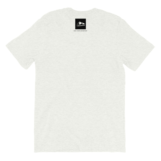 Outsidevibes Gear Men's Ash Cotton T-Shirt Outdoor and Travel Apparel