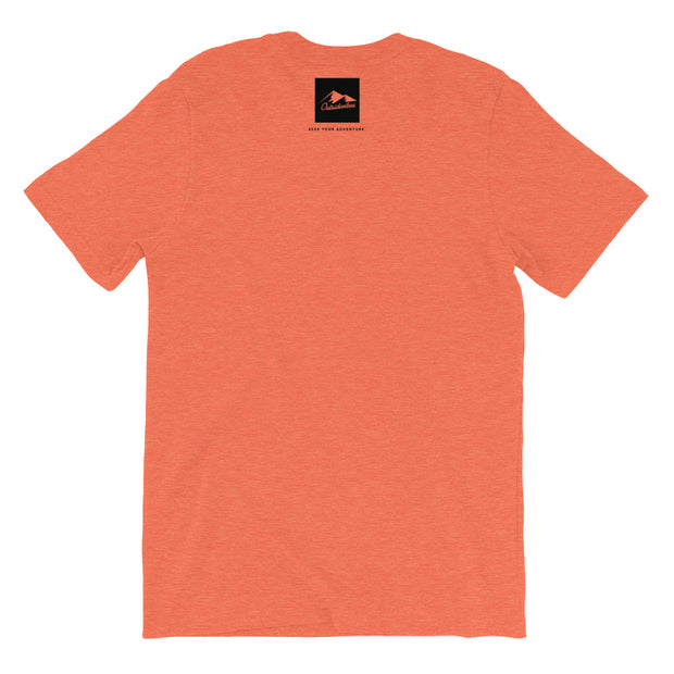 Outsidevibes Gear Men's Heather orange T-Shirt Outdoor and Travel clothing