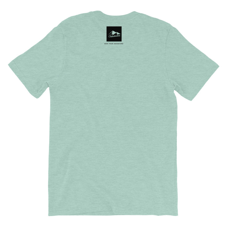 Outsidevibes Gear Men's Heather prism dusty blue T-Shirt Outdoor and Travel clothing