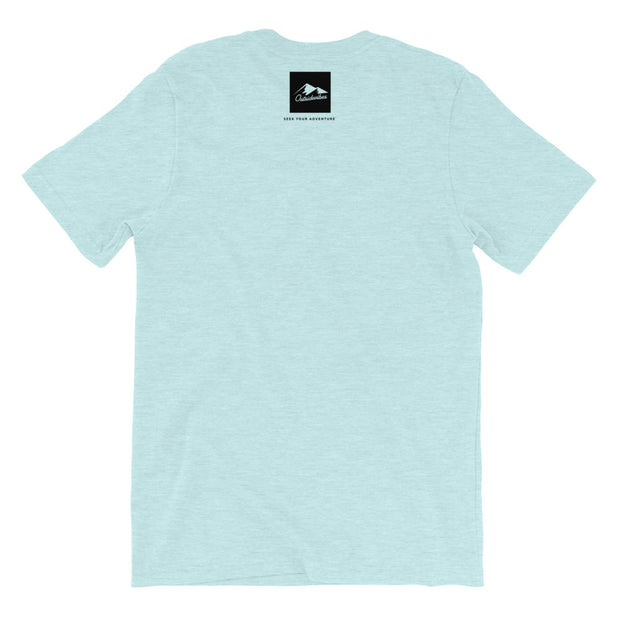 Outsidevibes Gear Men's Heather prism ice blue T-Shirt Outdoor and Travel clothing