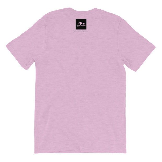 Outsidevibes Gear Men's Heather lilac T-Shirt Outdoor and Travel clothing