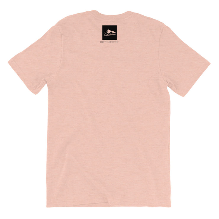 Outsidevibes Gear Men's Heather prism peach T-Shirt Outdoor and Travel clothing