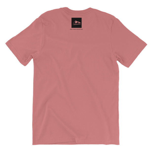 Outsidevibes Gear Men's Mauve Cotton T-Shirt Outdoor and Travel Apparel