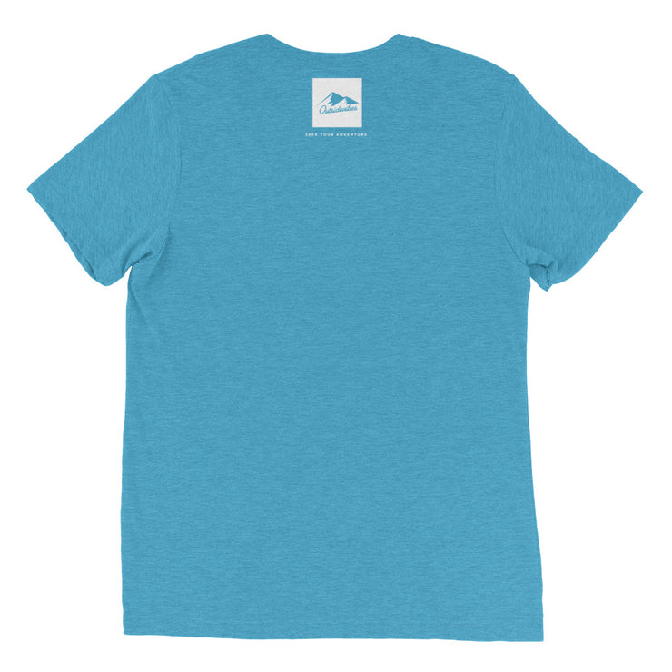 Ousidevibes Gear Men's aqua tri-blend T-Shirt Outdoor and Travel Apparel