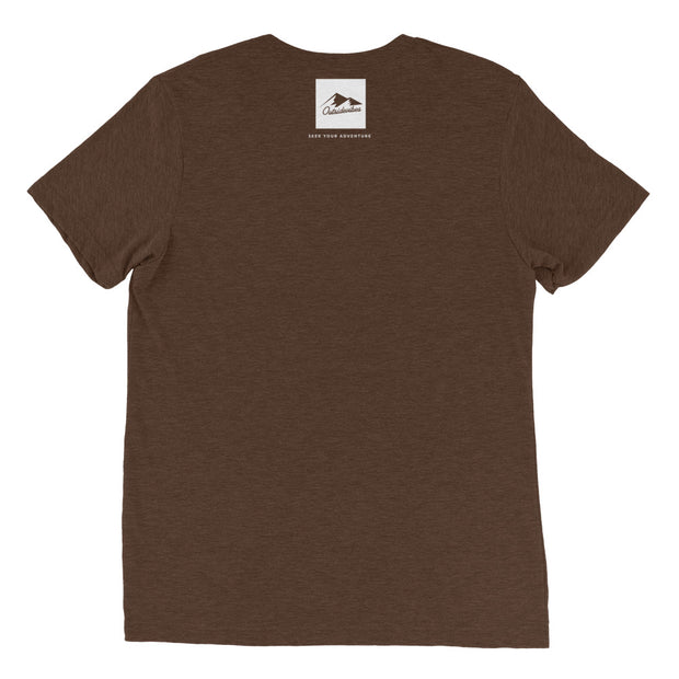 Ousidevibes Gear Men's brown tri-blend T-Shirt Outdoor and Travel Apparel