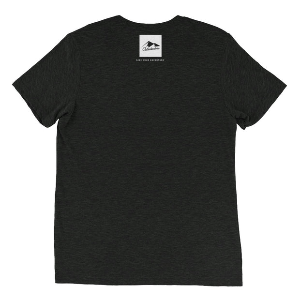 Ousidevibes Gear Men's charcoal black tri-blend T-Shirt Outdoor and Travel Apparel