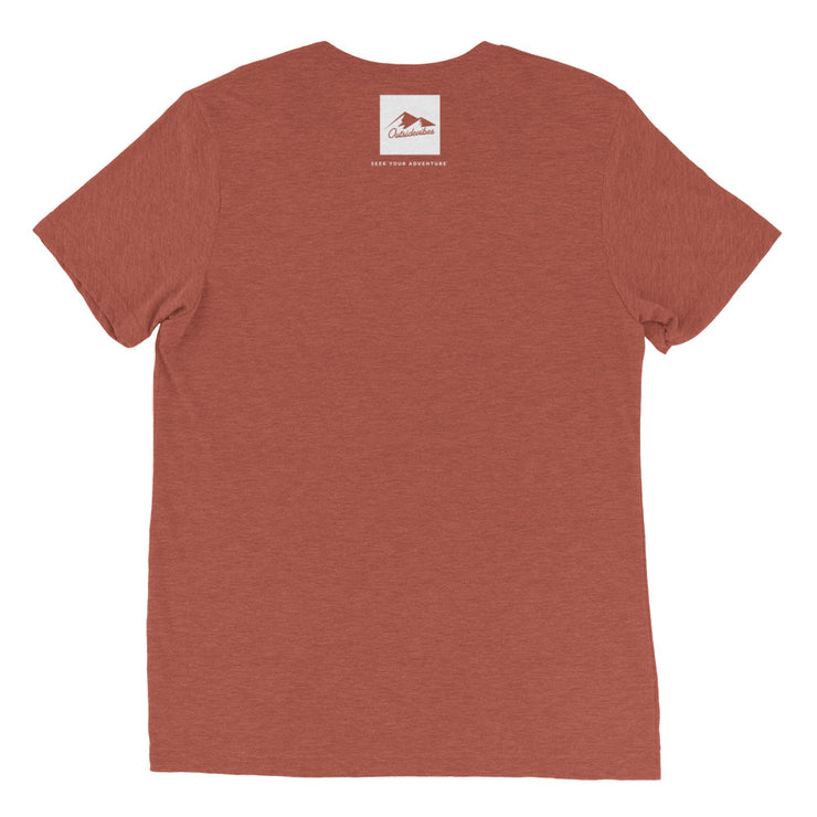 Ousidevibes Gear Men's clay tri-blend T-Shirt Outdoor and Travel Apparel