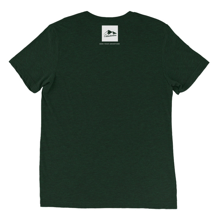 Ousidevibes Gear Men's emerald tri-blend T-Shirt Outdoor and Travel Apparel