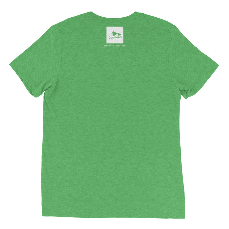 Ousidevibes Gear Men's green tri-blend T-Shirt Outdoor and Travel Apparel