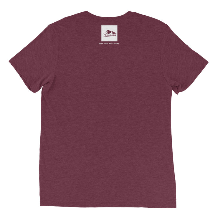 Ousidevibes Gear Men's maroon tri-blend T-Shirt Outdoor and Travel Apparel