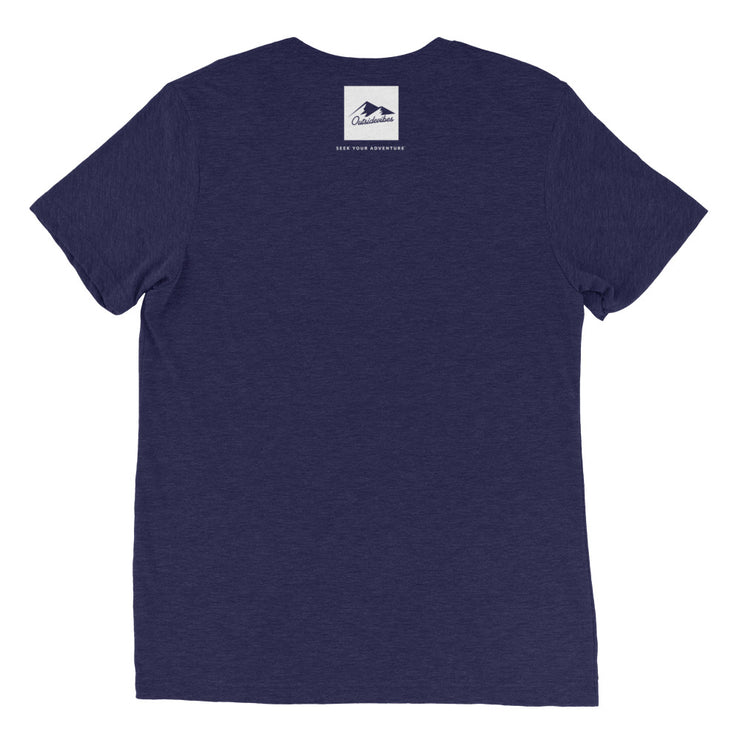 Ousidevibes Gear Men's navy tri-blend T-Shirt Outdoor and Travel Apparel