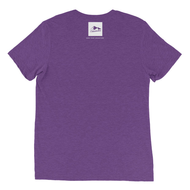 Ousidevibes Gear Men's purple tri-blend T-Shirt Outdoor and Travel Apparel