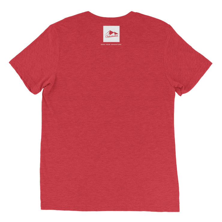 Ousidevibes Gear Men's red tri-blend T-Shirt Outdoor and Travel Apparel