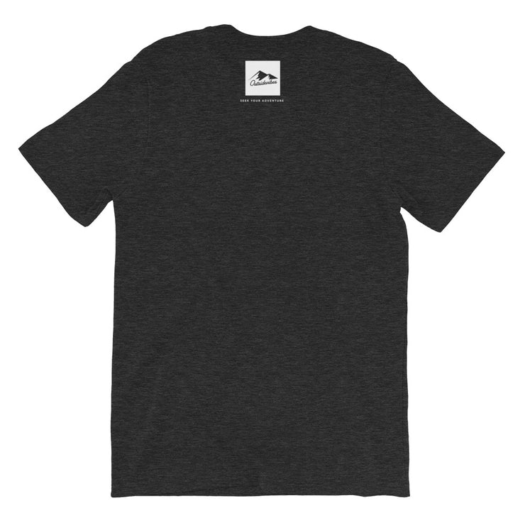 Outsidevibes Gear Men's Heather dark grey T-Shirt Outdoor and Travel clothing