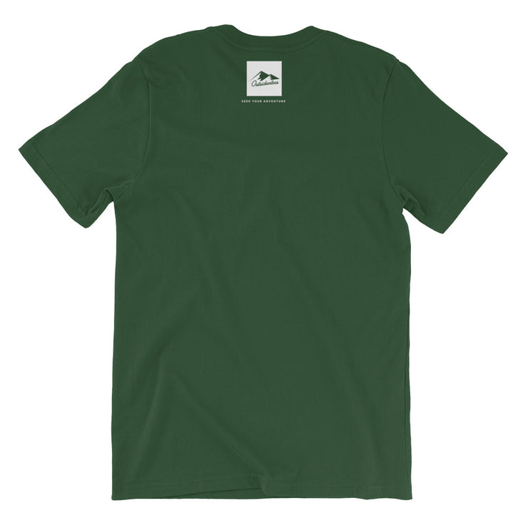 Outsidevibes Gear Men's Forest Cotton T-Shirt Outdoor and Travel Apparel