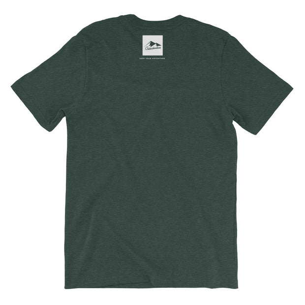 Outsidevibes Gear Men's Heather forest green T-Shirt Outdoor and Travel clothing