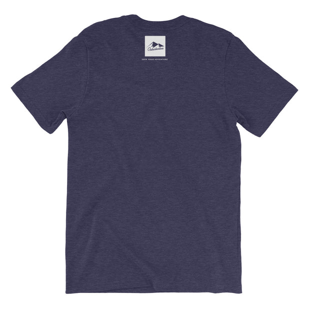 Outsidevibes Gear Men's Heather midnight navy T-Shirt Outdoor and Travel clothing