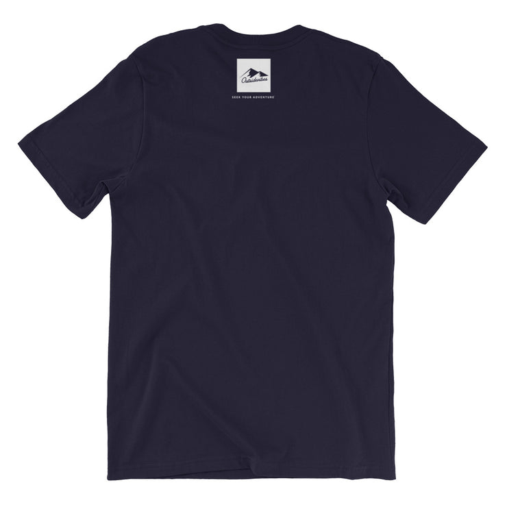 Outsidevibes Gear Men's Navy Cotton T-Shirt Outdoor and Travel Apparel