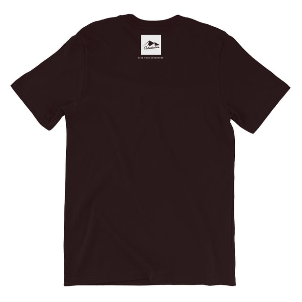 Outsidevibes Gear Men's Oxblood Black Cotton T-Shirt Outdoor and Travel Apparel