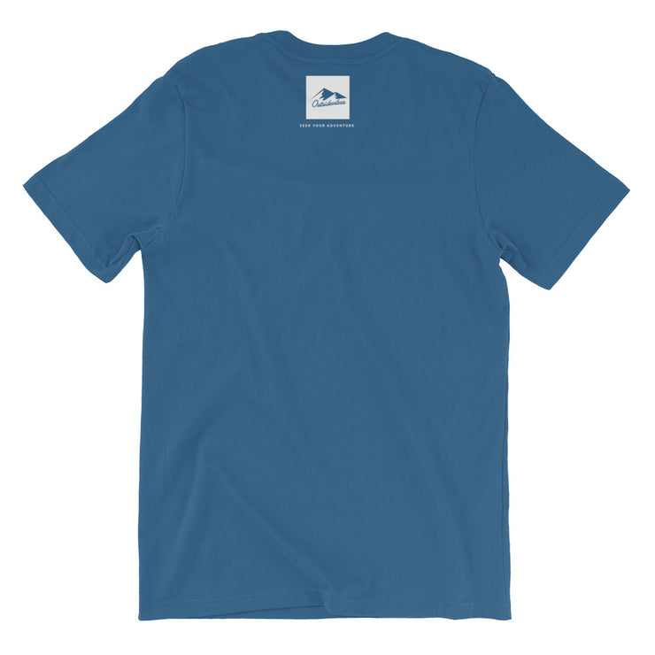 Outsidevibes Gear Men's Steel Blue Cotton T-Shirt Outdoor and Travel Apparel