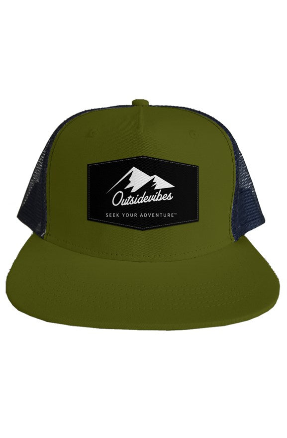 Outsidevibes Adventure Trucker Mesh Hat Olive