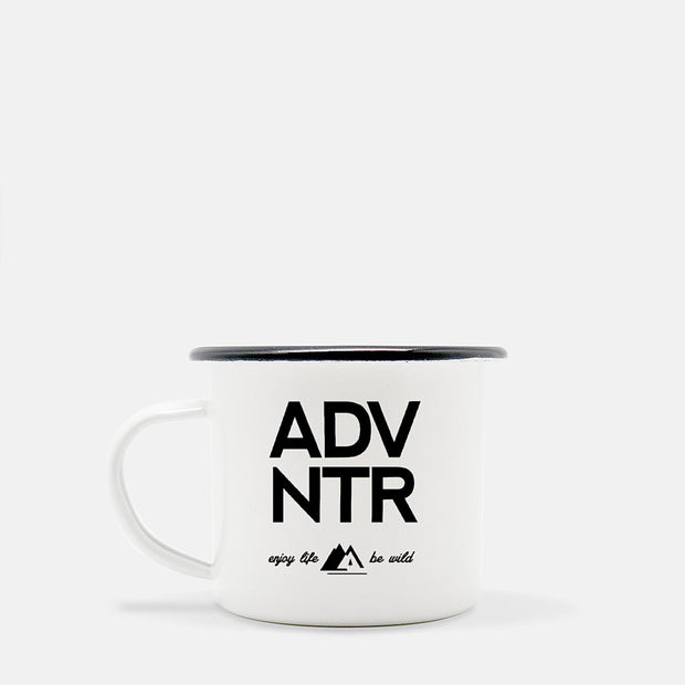 Outsidevibes Adventure Stainless Steel Camper Coffee Mug Black