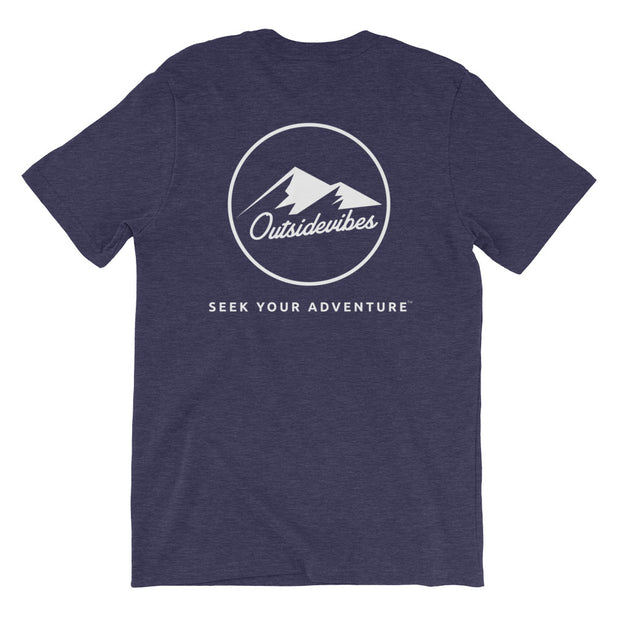 Ousidevibes The ADVNTR Triangle Men's heather midnight navy T-Shirt Outdoor and travel clothing
