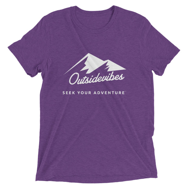 Outsidevibes ADVRT Men's purple Tri-Blend T-Shirt color Travel and outdoor clothing