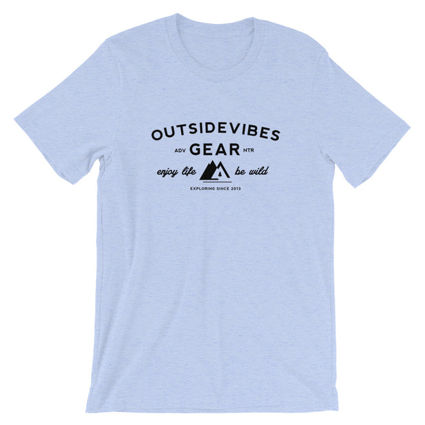Outsidevibes Gear Men's Heather Blue T-Shirt Outdoor and Travel clothing