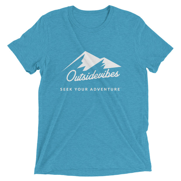 Outsidevibes ADVRT Men's aqua Tri-Blend T-Shirt color Travel and outdoor clothing