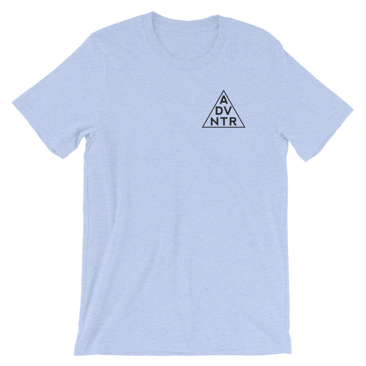 Ousidevibes The ADVNTR Triangle Men's heather blue T-Shirt Outdoor and travel clothing