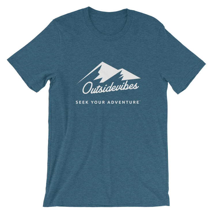 Outsidevibes ADVRT Men's Heather deep teal T-Shirt Outdoor and Travel clothing