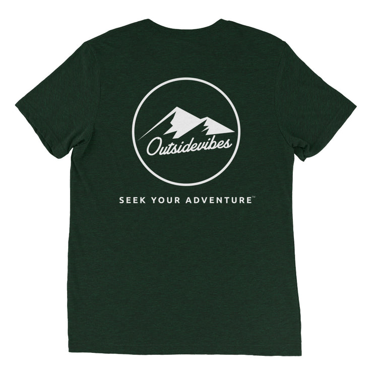 Ousidevibes The ADVNTR Triangle Men's emerald tri-blend T-Shirt Outdoor and Travel clothing