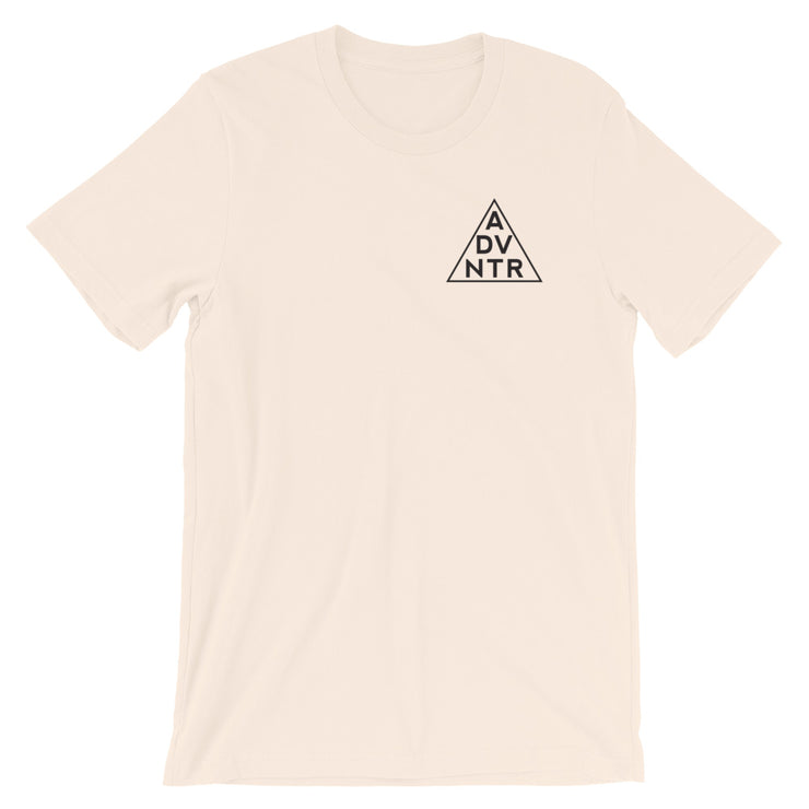Ousidevibes The ADVNTR Triangle Men's Soft Cream Cotton T-Shirt Outdoor and travel apparel