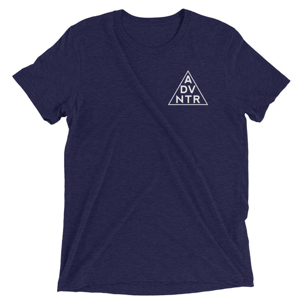 Ousidevibes The ADVNTR Triangle Men's navy tri-blend T-Shirt Outdoor and Travel clothing