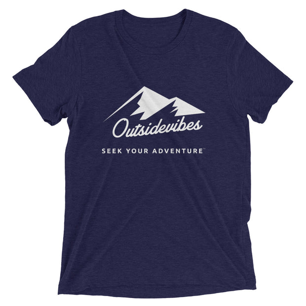 Outsidevibes ADVRT Men's navy Tri-Blend T-Shirt color Travel and outdoor clothing