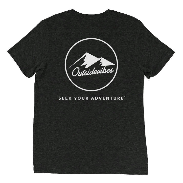 Ousidevibes The ADVNTR Triangle Men's charcoal black tri-blend T-Shirt Outdoor and Travel clothing