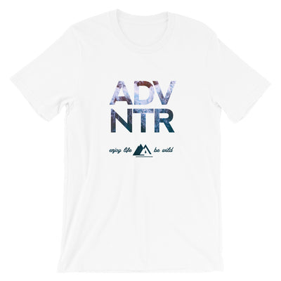 Outsidevibes ADVNTR Wave Men's White Cotton T-Shirt Travel and outdoor clothing