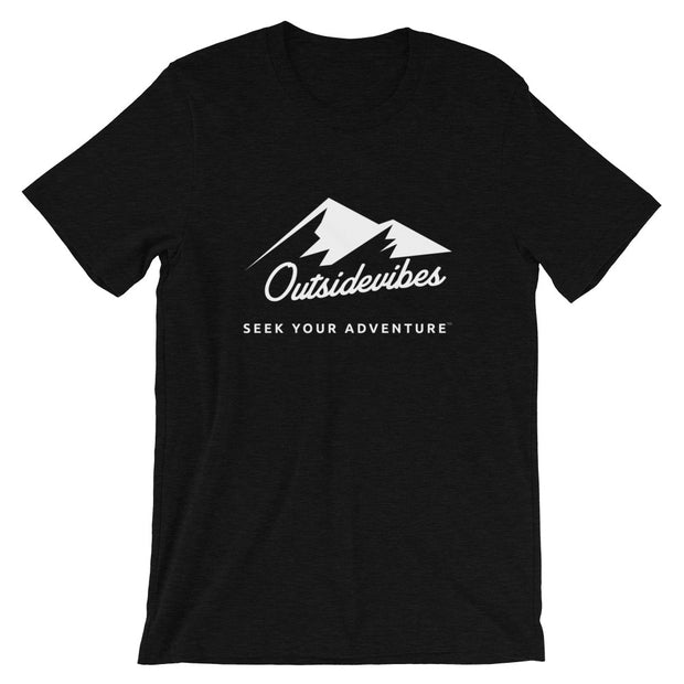 Outsidevibes ADVRT Men's Heather black T-Shirt Outdoor and Travel clothing
