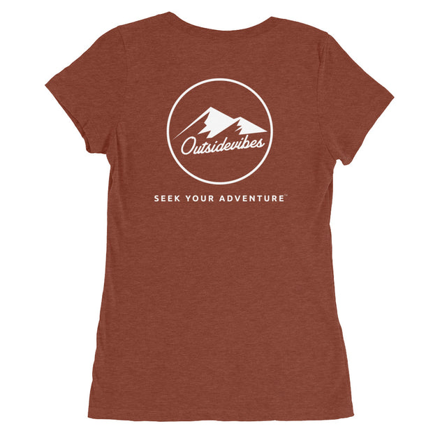 Outsidevibes Gear Try advntr Woman's clay T-Shirt Outdoor and Adventure clothing