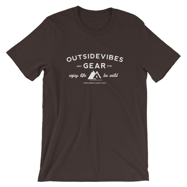 Outsidevibes Gear Men's Brown Cotton T-Shirt Outdoor and Travel Apparel