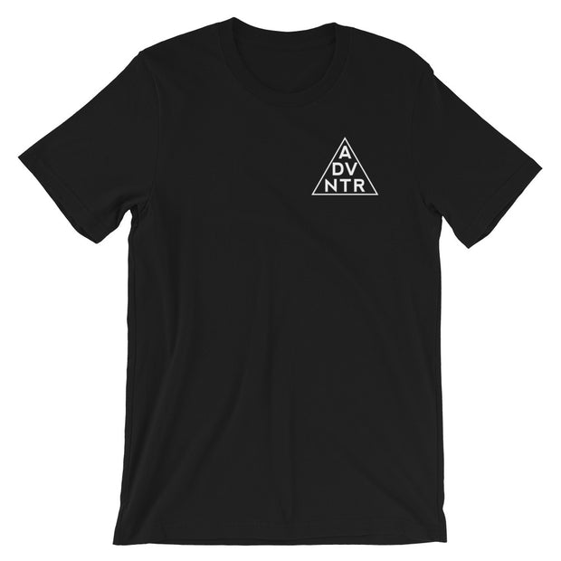 Ousidevibes The ADVNTR Triangle Men's Black Cotton T-Shirt Outdoor and travel apparel