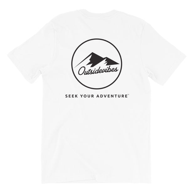 Ousidevibes The ADVNTR Triangle Men's White Cotton T-Shirt Outdoor and travel apparel