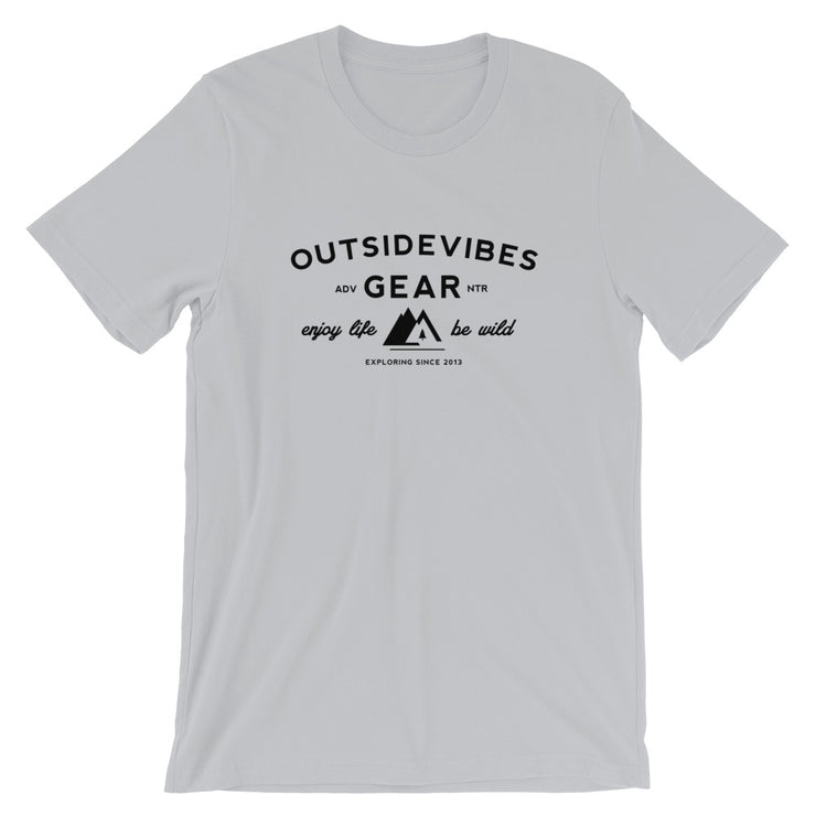 Outsidevibes Gear Men's Silver Cotton T-Shirt Outdoor and Travel Apparel