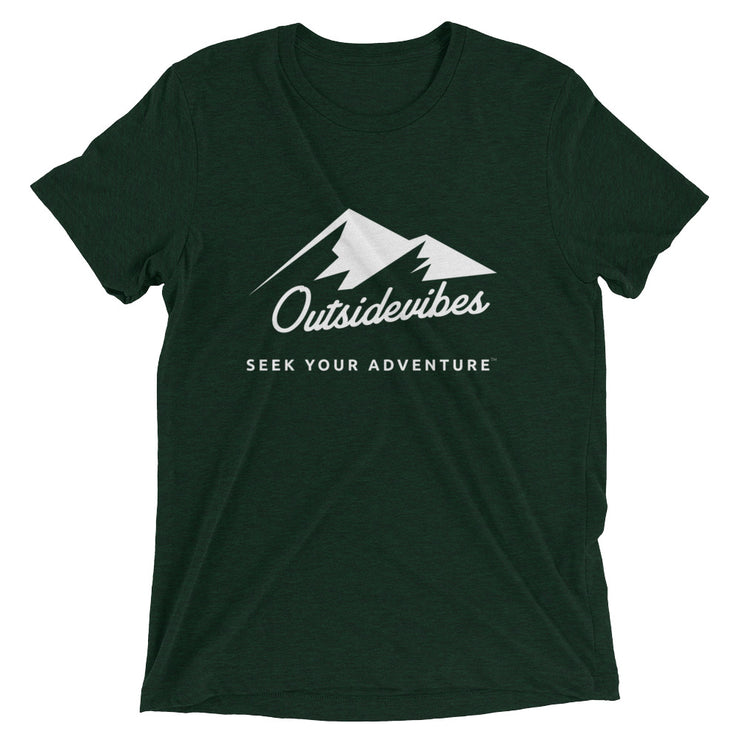 Outsidevibes ADVRT Men's emerald Tri-Blend T-Shirt color Travel and outdoor clothing