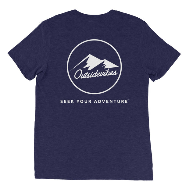 Ousidevibes The ADVNTR Triangle Men's navytri-blend T-Shirt Outdoor and Travel clothing