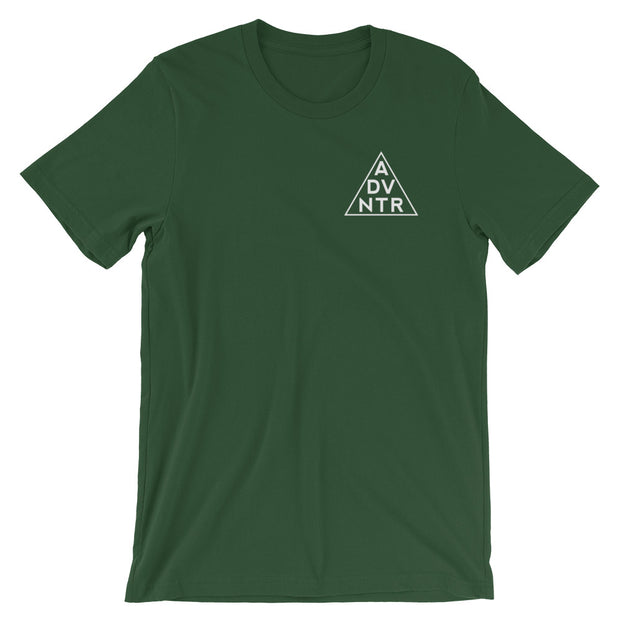 Ousidevibes The ADVNTR Triangle Men's Forest Cotton T-Shirt Outdoor and travel apparel