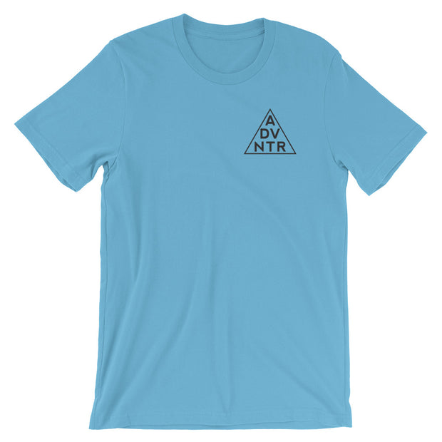 Ousidevibes The ADVNTR Triangle Men's Ocean Blue Cotton T-Shirt Outdoor and travel apparel