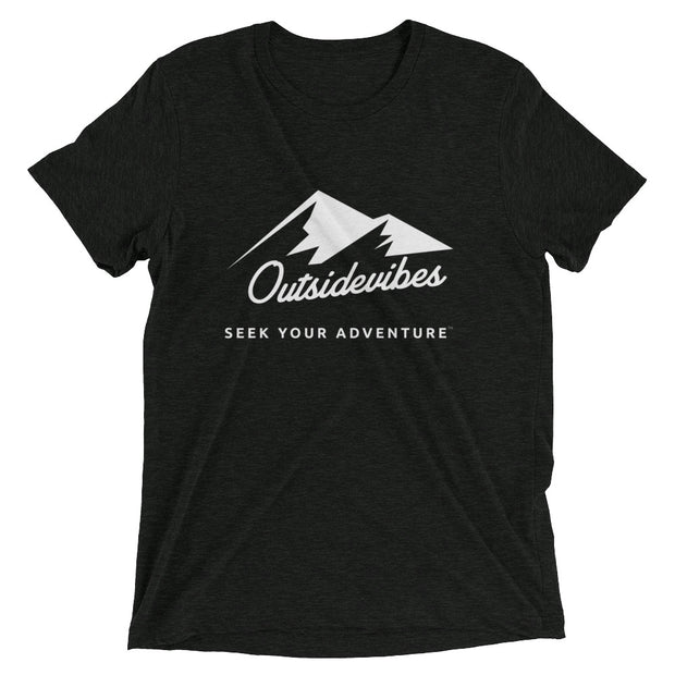 Outsidevibes ADVRT Men's Charcoal black Tri-Blend T-Shirt color Travel and outdoor clothing